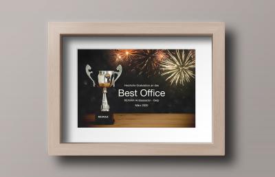 RE/MAX Ambassador in Belp schnappt sich im März Best Office- & Best Agent-Titel